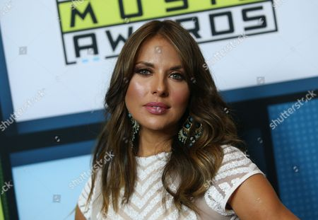 Vanessa Villela poses backstage at the Latin American Music Awards at the Dolby Theatre, in Los Angeles
