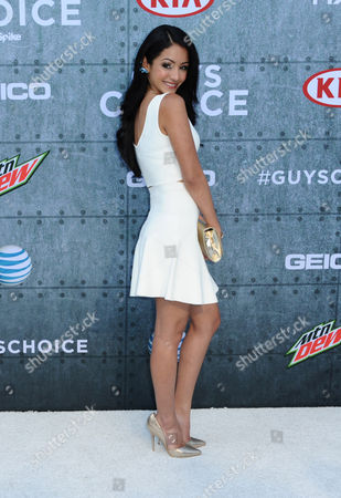 Melanie Iglesias attends the 2015 Spike TV's Guys Choice Awards at Sony Studios, in Culver City, Calif