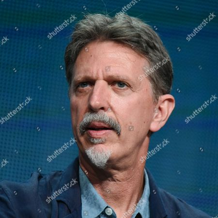 Executive producer Tim Kring participates in the 'Heroes Reborn' panel at the The NBCUniversal Television Critics Association Summer Tour at the Beverly Hilton Hotel, in Beverly Hills, Calif