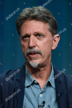 Executive Producer Tim Kring participates in the 'Heroes Reborn' panel at the NBCUniversal Television Critics Association Summer Tour at the Beverly Hilton Hotel, in Beverly Hills, Calif