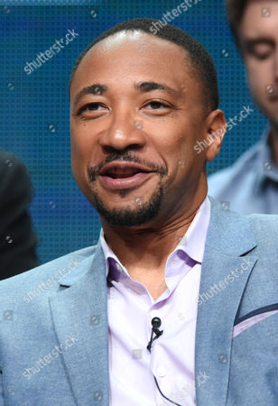 "Damon Gupton participates in the ""The Player"" panel at The NBCUniversal Television Critics Association Summer Tour at the Beverly Hilton Hotel, in Beverly Hills, Calif"