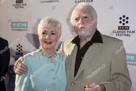 """Stock Photo of Shirley Jones, left, and Marty Ingels arrive at the 2015 TCM Classic Film Festival Opening Night Gala """"The Sound Of Music"""" at TCL Chinese Theatre on in Los Angeles"""