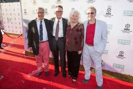 "Stock Image of Michael Tucci, from left, Kelly Ward, Jamie Donnelly and Barry Pearl arrive at the 2015 TCM Classic Film Festival Opening Night Gala ""The Sound Of Music"" at TCL Chinese Theatre on in Los Angeles"