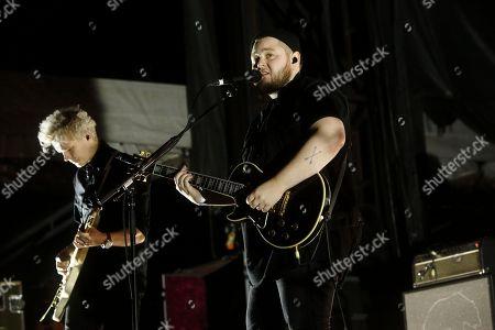 Kristjan Pall Kristjansson, Ragnar Thorhallsson, and Of Monsters and Men performs at the Big Ticket Fest at Metropolitan Park, in Jacksonville, FL