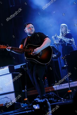 Ragnar Thorhallsson and Of Monsters and Men performs at the Big Ticket Fest at Metropolitan Park, in Jacksonville, FL