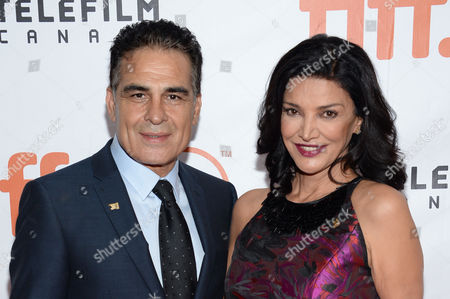 "Alon Aboutboul and Shohreh Aghdashloo attend a premiere for ""Septembers of Shiraz"" on day 6 of the Toronto International Film Festival at Roy Thomson Hall, in Toronto"