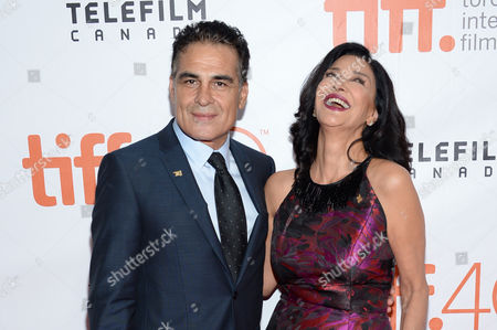 "Alon Aboutboul, left, and Shohreh Aghdashloo attend a premiere for ""Septembers of Shiraz"" on day 6 of the Toronto International Film Festival at Roy Thomson Hall, in Toronto"
