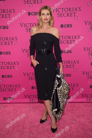 Daniela Pestova attends the 2015 Victoria's Secret Fashion Show at the Lexington Armory, in New York. The Victoria's Secret Fashion Show will air on CBS on Tuesday, December 8th at 10pm EST