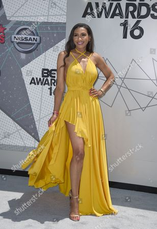 Stock Image of Rhonda Wills arrives at the BET Awards at the Microsoft Theater, in Los Angeles