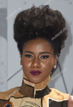 Stock Image of MzVee arrives at the BET Awards at the Microsoft Theater, in Los Angeles