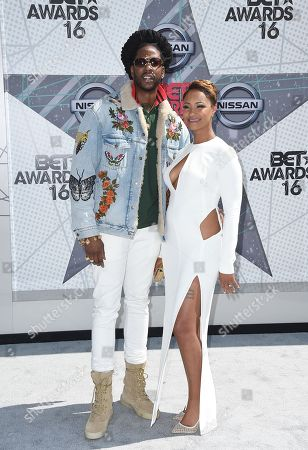 Stock Image of 2 Chainz, left, and Nakesha Ward arrive at the BET Awards at the Microsoft Theater, in Los Angeles