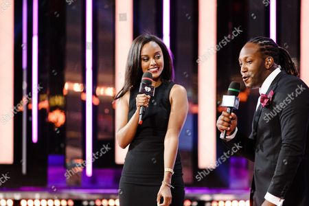 Ruth B and Tyrone Edwards seen at the 2016 iHeartRadio MuchMusic Video Awards, in Toronto, Canada