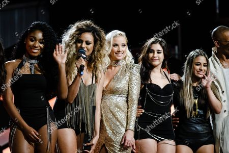 Fifth Harmony and Liz Trinnear seen at the 2016 iHeartRadio MuchMusic Video Awards, in Toronto, Canada