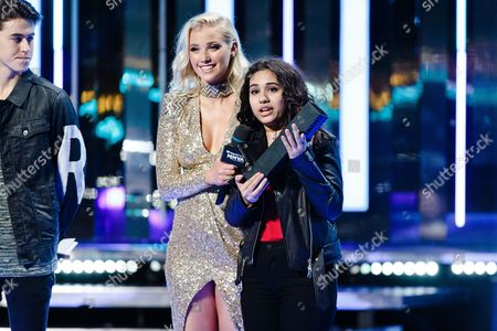Liz Trinnear and Alessia Cara seen at the 2016 iHeartRadio MuchMusic Video Awards, in Toronto, Canada