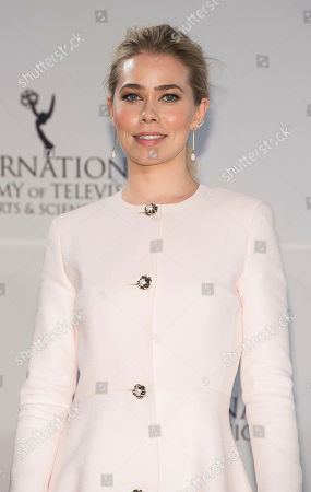 Birgitte Hjort Sorensen appears in the press room at the 44th International Emmy Awards at the New York Hilton, in New York