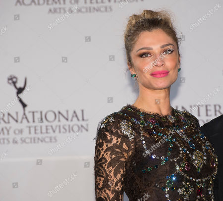 Grazi Massafera appears in the press room at the 44th International Emmy Awards at the New York Hilton, in New York