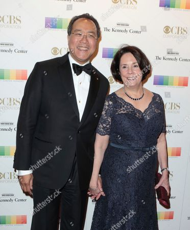 Yo-Yo Ma, left, with his wife Jill Hornor attend the 39th Annual Kennedy Center Honors at The John F. Kennedy Center for the Performing Arts, in Washington, D.C