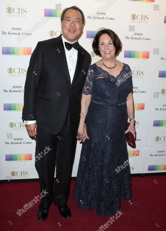 Stock Image of Yo-Yo Ma, left, with his wife Jill Hornor attend the 39th Annual Kennedy Center Honors at The John F. Kennedy Center for the Performing Arts, in Washington, D.C