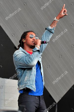 Stock Photo of Nayvadius Cash AKA Future performs on day 2 at Lollapalooza in Grant Park, in Chicago