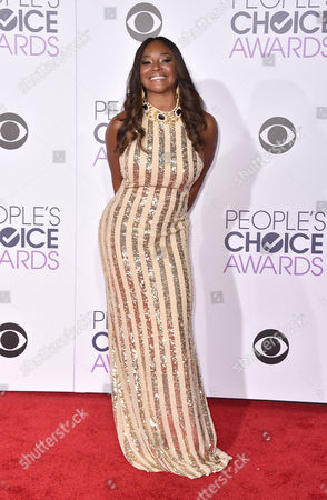 Tamala Jones arrives at the People's Choice Awards at the Microsoft Theater, in Los Angeles