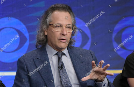 """Executive producer Jason Katims participates in the """"Pure Genius"""" panel during the CBS Television Critics Association summer press tour, in Beverly Hills, Calif"""