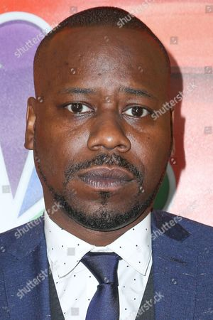 """Malcolm Barrett, a cast member in the television series """"Timeless,"""" arrives at the NBCUniversal Television Critics Association summer press tour, in Beverly Hills, Calif"""