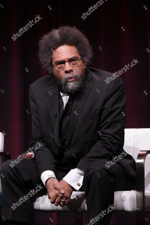 "Dr. Cornel West participates in the ""Black America Since MLK: And Still I Rise"" panel during the PBS Television Critics Association summer press tour, in Beverly Hills, Calif"
