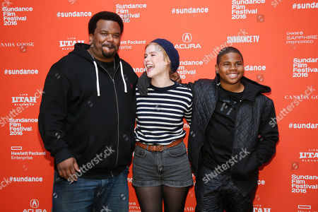 "Actors Craig Robinson, from left, Carla Juri and Markees Christmas pose at the premiere of ""Morris From America"" during the 2016 Sundance Film Festival, in Park City, Utah"