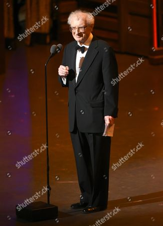 Sheldon Harnick accepts the special Tony Award for lifetime achievement in the theatre at the Tony Awards at the Beacon Theatre, in New York