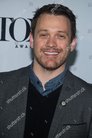 """Michael Arden attends the 2016 Tony Awards """"Meet the Nominees"""" press junket at the Paramount Hotel, in New York"""