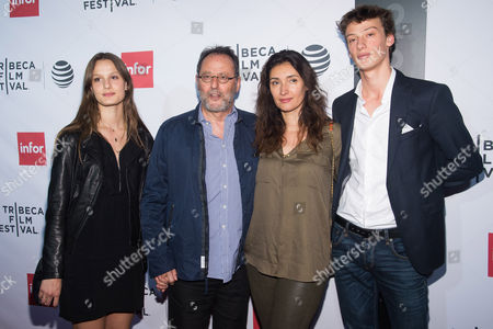 """Jean Reno and Zofia Borucka attend a special 40th anniversary screening of """"Taxi Driver"""" during the 2016 Tribeca Film Festival at the Beacon Theatre, in New York"""