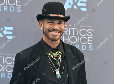 Raoul Trujillo arrives at the 21st annual Critics' Choice Awards at the Barker Hangar, in Santa Monica, Calif