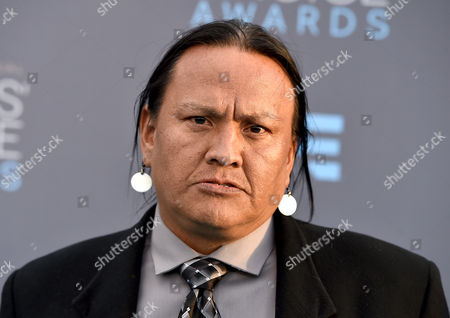 Arthur RedCloud arrives at the 21st annual Critics' Choice Awards at the Barker Hangar, in Santa Monica, Calif