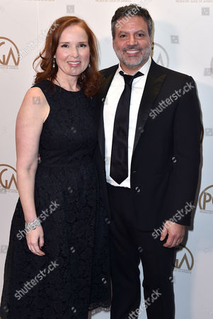 PGA Chairs, Jennifer Todd, left, and Michael De Luca at the 27th annual Producers Guild Awards at the Hyatt Regency Century Plaza, in Los Angeles