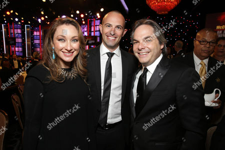 Blair Rich, Zev Foreman and Adam Goodman, President of Paramount Film Group seen at the 28th Annual American Cinematheque Awards Honoring Matthew McConaughey held at The Beverly Hilton, in Beverly Hills