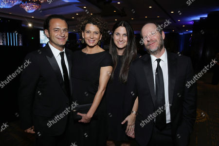 Ramin Shamshiri, Donna Langley, Chairman of Universal Pictures, Liza Chasin and Matthew Velkes seen at the 29th annual American Cinematheque Award honoring Reese Witherspoon at Hyatt Regency Century Plaza, in Century City, CA
