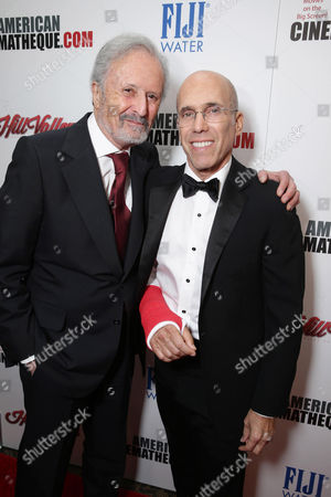 Stock Picture of Bert Fields and Jeffrey Katzenberg, CEO of Dreamworks Animation, seen at the 29th annual American Cinematheque Award honoring Reese Witherspoon at Hyatt Regency Century Plaza, in Century City, CA