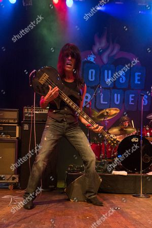 Musician Rudy Sarzo performs on stage at the 2nd Annual Heroes Helping Heroes Benefit Concert at The House of Blues on in Los Angeles