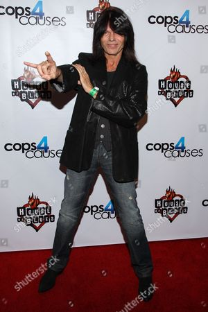 Musician Rudy Sarzo arrives at the 2nd Annual Heroes Helping Heroes Benefit Concert at The House of Blues on in Los Angeles