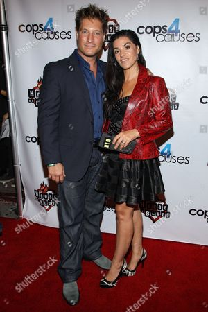 Actor Sean Kanan and Michele Kanan arrive at the 2nd Annual Heroes Helping Heroes Benefit Concert at The House of Blues on in Los Angeles