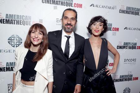 Paula Ortiz, Javier Ruiz Caldera and Belen Cuesta seen at 30th Annual American Cinematheque Award Honoring Ridley Scott at The Beverly Hilton, in Beverly Hills, CA