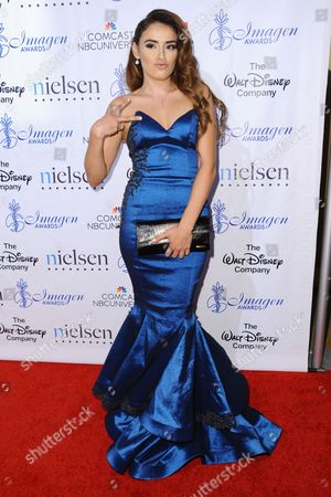 Vannessa Vasquez arrives at the 30th annual Imagen Awards at the Dorothy Chandler Pavilion, in Los Angeles