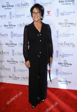 Terri Hoyos arrives at the 30th annual Imagen Awards at the Dorothy Chandler Pavilion, in Los Angeles