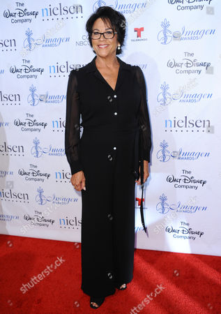 Stock Image of Terri Hoyos arrives at the 30th annual Imagen Awards at the Dorothy Chandler Pavilion, in Los Angeles