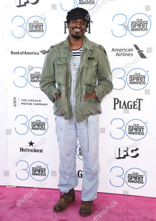 Andre Benjamin, also known as Andre 3000, arrives at the 30th Film Independent Spirit Awards, in Santa Monica, Calif