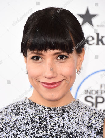 Stock Image of Andrea Suarez Paz arrives at the 30th Film Independent Spirit Awards, in Santa Monica, Calif