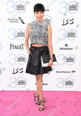 Stock Picture of Andrea Suarez Paz arrives at the 30th Film Independent Spirit Awards, in Santa Monica, Calif