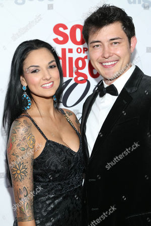 Laneya Arvizu and Christopher Sean arrive at the 40th Anniversary of Soap Opera Digest at The Argyle Hollywood, in Los Angeles