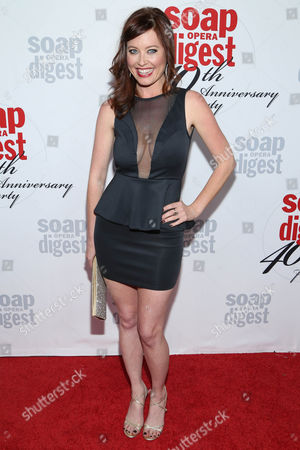 Stock Image of Melissa Archer arrives at the 40th Anniversary of Soap Opera Digest at The Argyle Hollywood, in Los Angeles