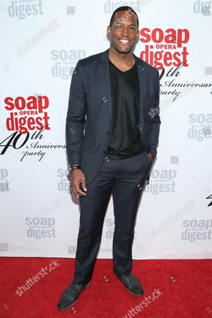 Stock Photo of Lawrence Saint-Victor arrives at the 40th Anniversary of Soap Opera Digest at The Argyle Hollywood, in Los Angeles